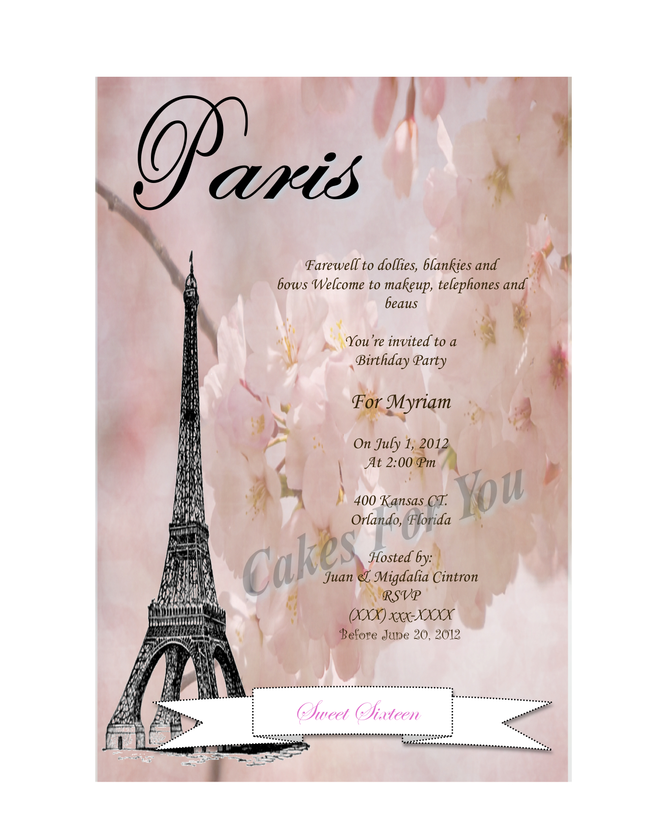 Sweet Sixteen Paris